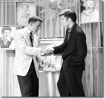 Wink Martindale and Elvis Presley at WHBQ in Memphis - June 16, 1956