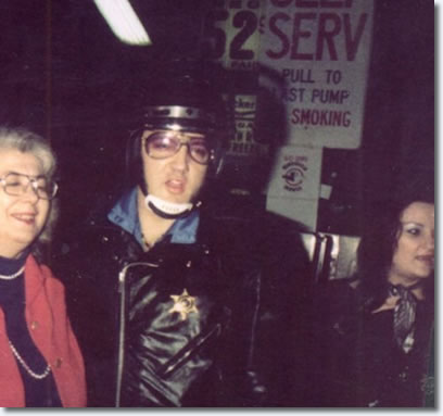 Elvis Presley at Vickers Gas Station, Memphis, October 4, 1976
