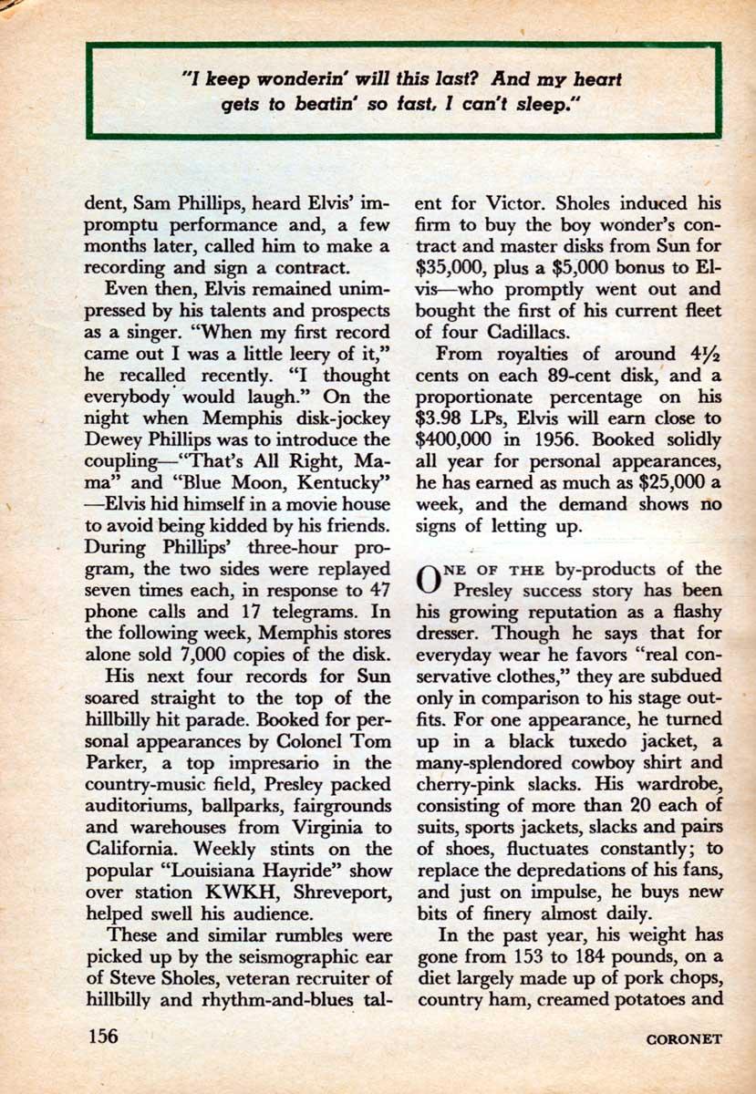 A Craze Called Elvis September 1956.