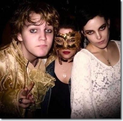 Benjamin Keough, Lisa Marie and Riley Keough New Years Eve 2010.