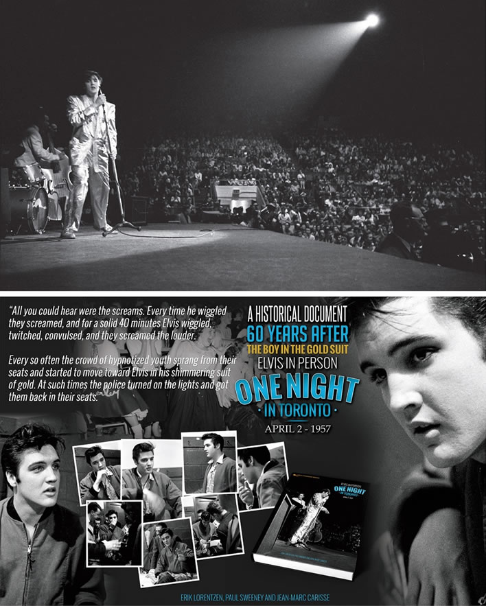 From the 'Elvis In Person, One Night in Toronto April 2, 1957' Hardcover Book.