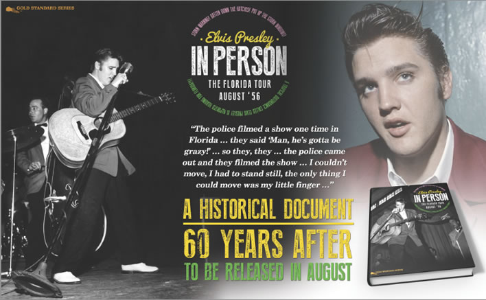 'Elvis In Person, The Florida Tour August '56' hardcover Book.