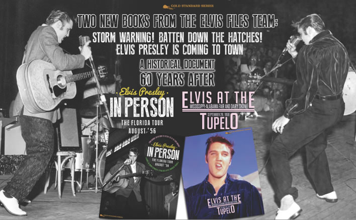 Two Historical Documents - 60 Years later. 'Elvis In Person, The Florida Tour August '56' and 'Elvis at The Mississippi-Alabama Fair and Dairy Show, TUPELO'.