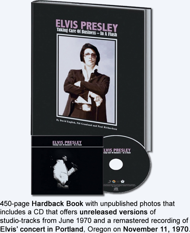 Elvis : 'Taking Care Of Business - In A Flash' Hardcover Book and CD