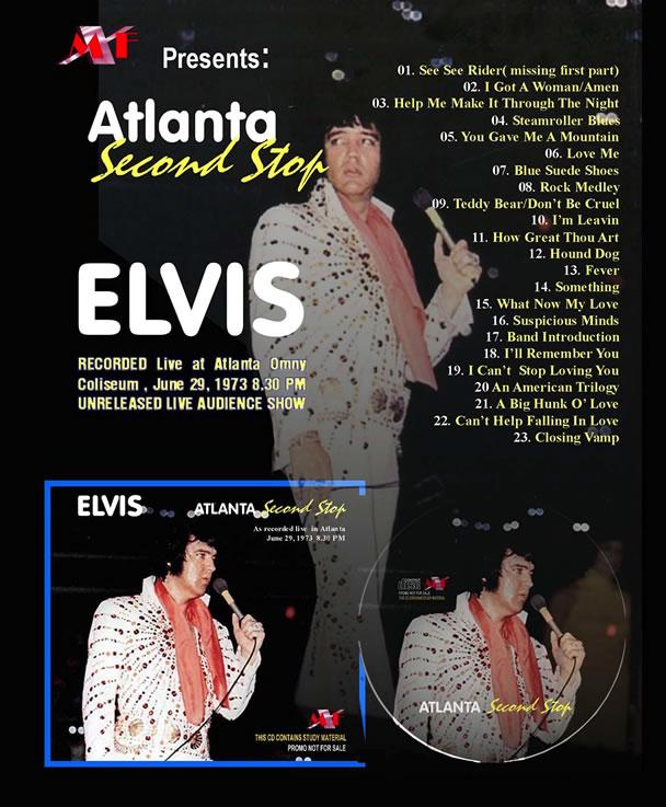 'Atlanta, Second Stop' CD (Elvis' 1973 June Tour)