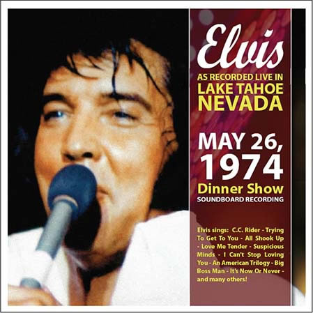 Elvis As Recorded Live In Lake Tahoe CD