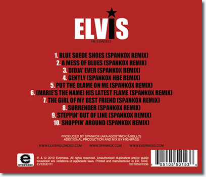 Elvis Presley 'Re:Loaded' CD Back Cover.