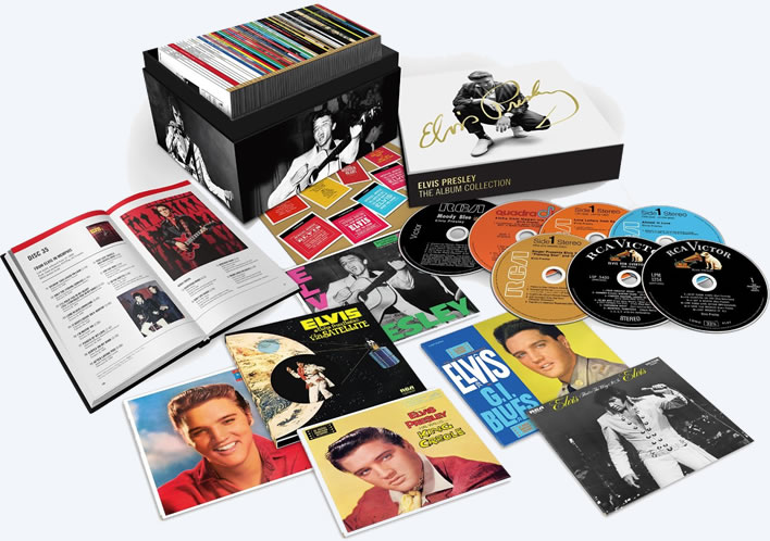 Elvis Presley: The RCA Album Collection 60 CD + Book Deluxe Box Set. Click image to view larger.