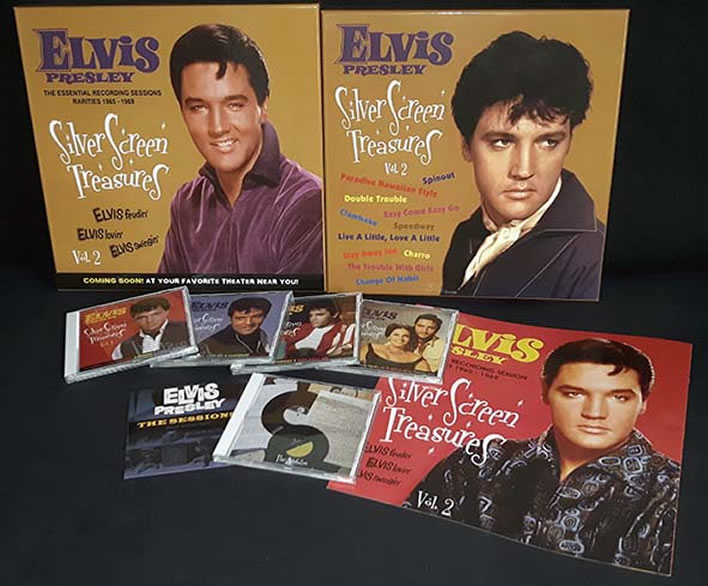 Elvis : 'Silver Screen Treasures Volume 2 : 1965-1969' 6 CD LP sized box-set.
