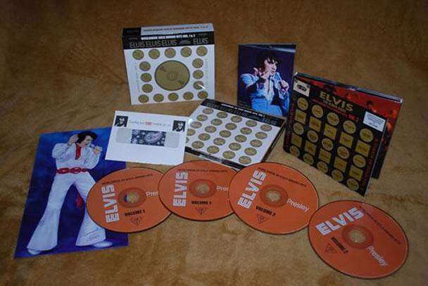 'Elvis Worldwide Gold Award Hits Vol.1 & 2' 4 CD Box Set.