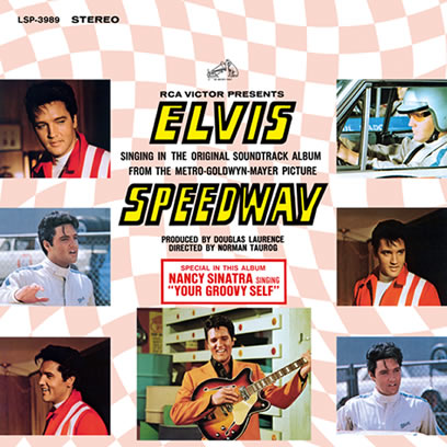 "Elvis, 'Speedway', a 2-CD in the deluxe 7"" digpack packaging format."