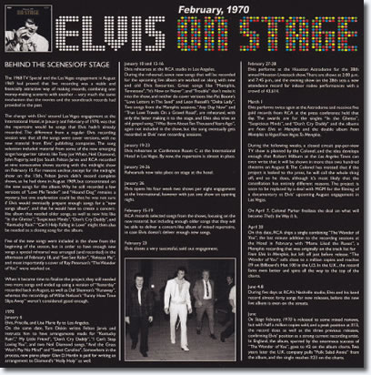 """On Stage : February, 1970 : FTD 2 CD Special Edition [7"""" Classic Album Presentation] : Inside the Booklet : 'Behind The Scenes'."""