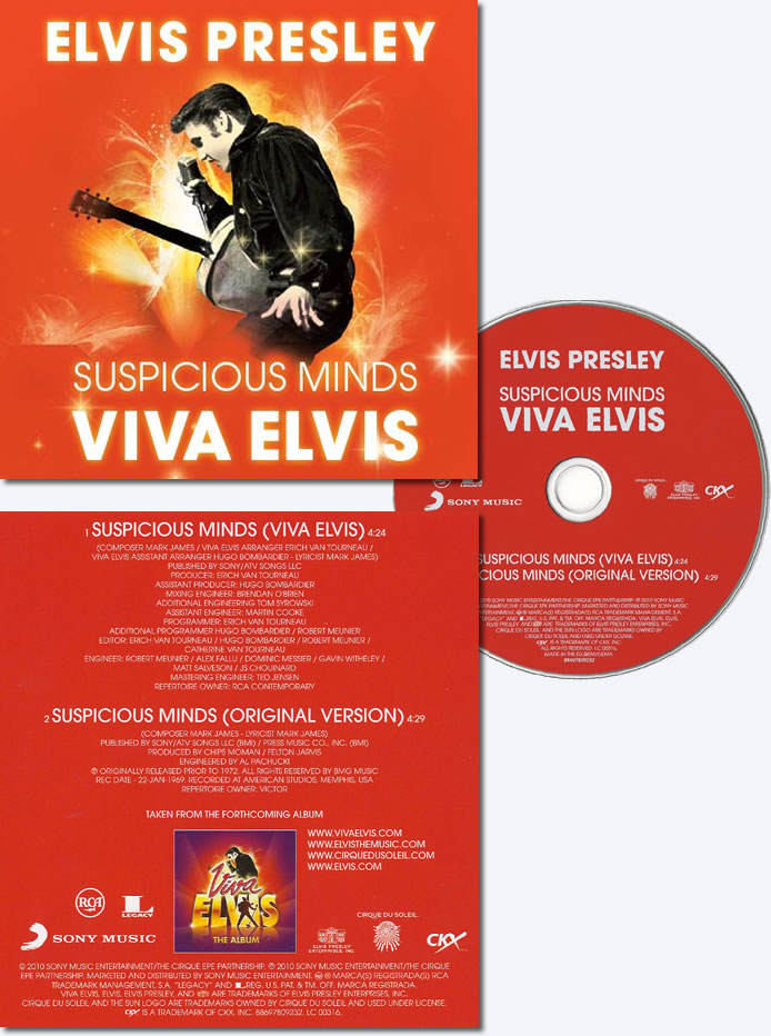 Suspicious Minds Viva Elvis CD Single