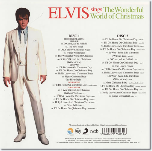 Elvis Sings The Wonderful World Of Christmas FTD 2 CD Special Edition back cover