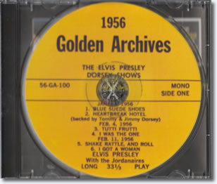 Elvis Presley : The Dorsey Shows CD Disc.