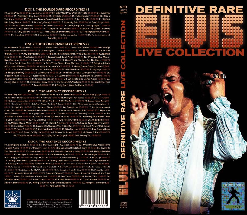 'Definitive Rare Elvis Live Collection' a limited numbered edition 4 CD box-set with only 400 copies made.