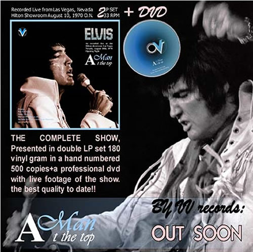 Elvis : A Man At The Top 2 LP Vinyl + 1 DVD Set