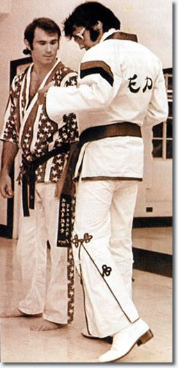 Elvis Presley and Bill 'superfoot' Wallace.