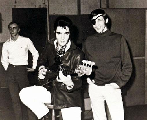 Elvis Presley and Bobby Wood.