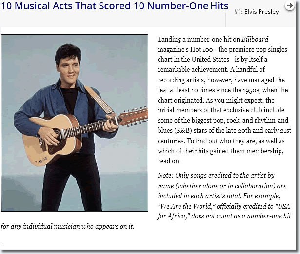 Encyclopedia Britannica's : 10 Musical Acts That Scored #1 Hits