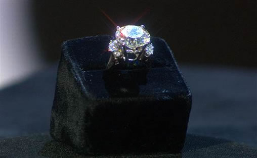 Ginger's engagement ring.