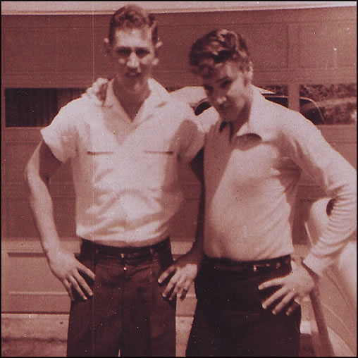 Guy Harris and Elvis Presley 1956.