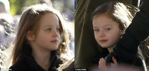 No denying those genes: Lisa Marie's fraternal twin girls, Harper and Finley Lockwood, aged seven, both have the family's Presley pout.