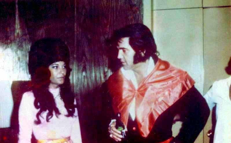 Elvis Presley at Stax Studios 1973.