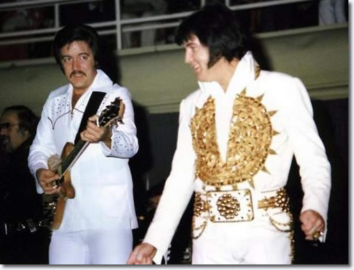 John Wilkinson and Elvis Presley 1977.