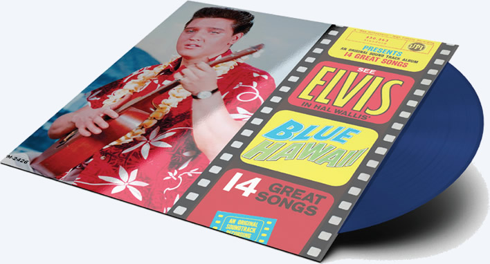 'Blue Hawaii' for 'Record Store Day' release on blue vinyl.