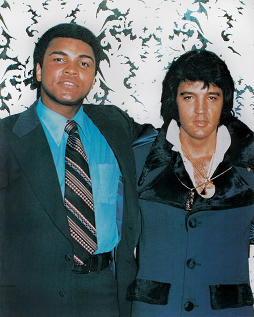 Muhammad Ali and Elvis Presley.