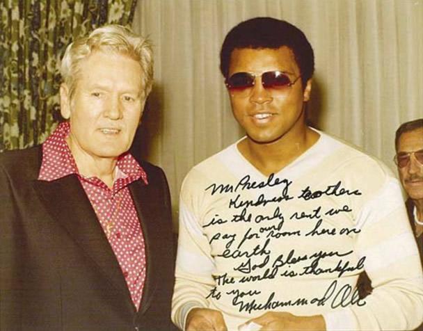 Vernon Presley and Muhammad Ali.