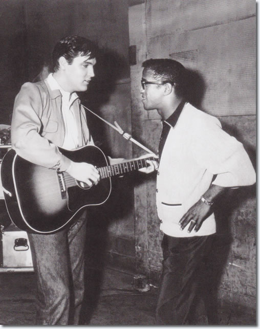 Elvis Presley and Sammy Davis Jr, King Creole set.