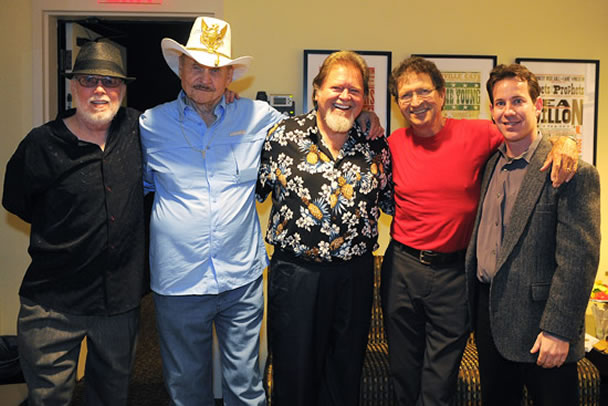 Pictured (L-R): Billy Swan, Jerry Chesnut, Dallas Frazier, Mac Davis and Museum Editor Michael Gray.