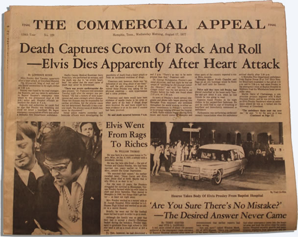 The Commercial Appeal August 17 1977.