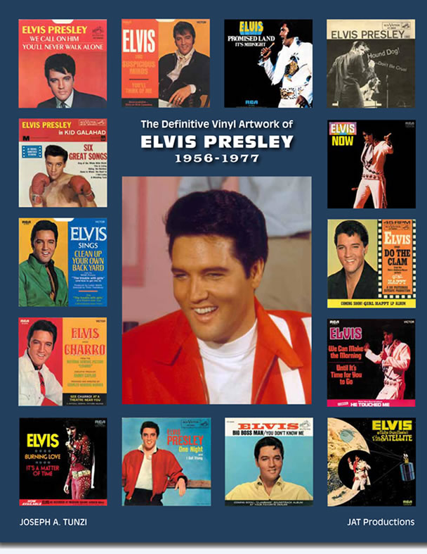 The Definitive Vinyl Artwork of Elvis Presley 1956-1977 Hardcover Book.
