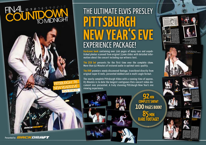 Elvis Presley : Final Countdown To Midnight : Pittsburgh 1976 NYE experience package 2CD/DVD/Book from Backdraft.