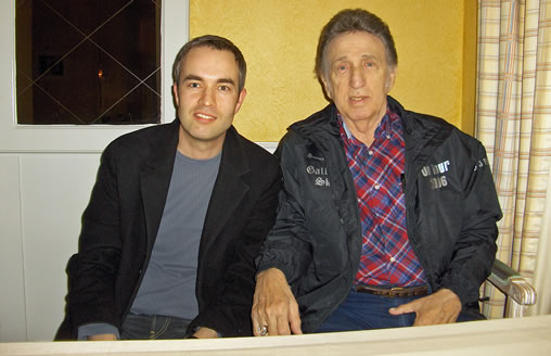 A magic moment: Thomas Melin meeting D.J. Fontana in April 2006.