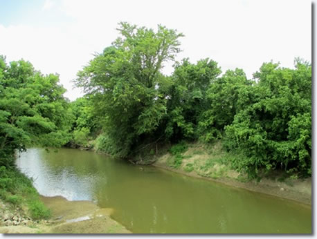 Mud Creek Swimming hole located in Tupelo.