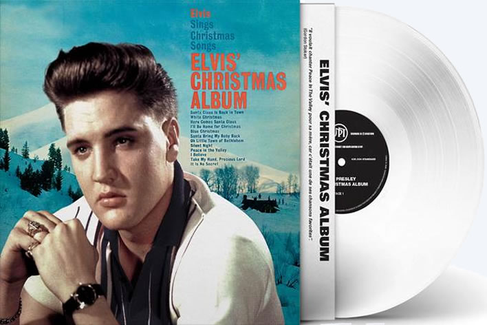 Elvis Presley Christmas Album White 180 Gram Vinyl LP.