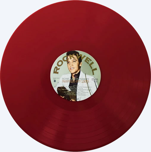 Elvis 'Nashville City Limits' Ruby Red Vinyl LP Record limited Edition 200 NUMBERED copies.