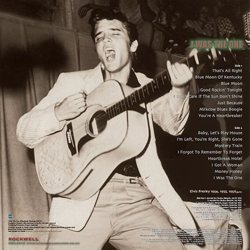 Elvis Presley : I Was The One, CERISE PINK Vinyl LP - 1954, 1955 & 1956 (Part I) Back cover.