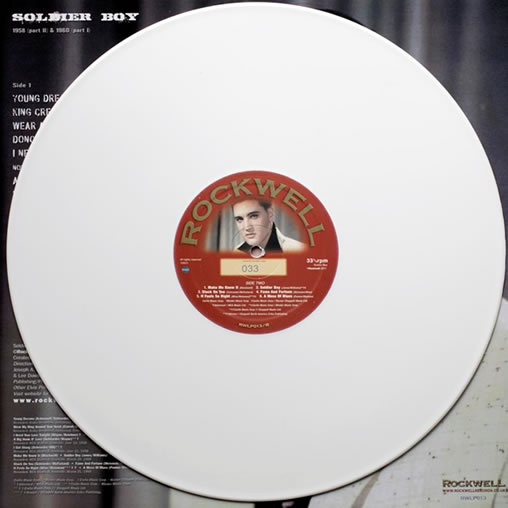 Elvis Soldier Boy on White Vinyl. Limited Edition 150 Copies Hand Numbered.