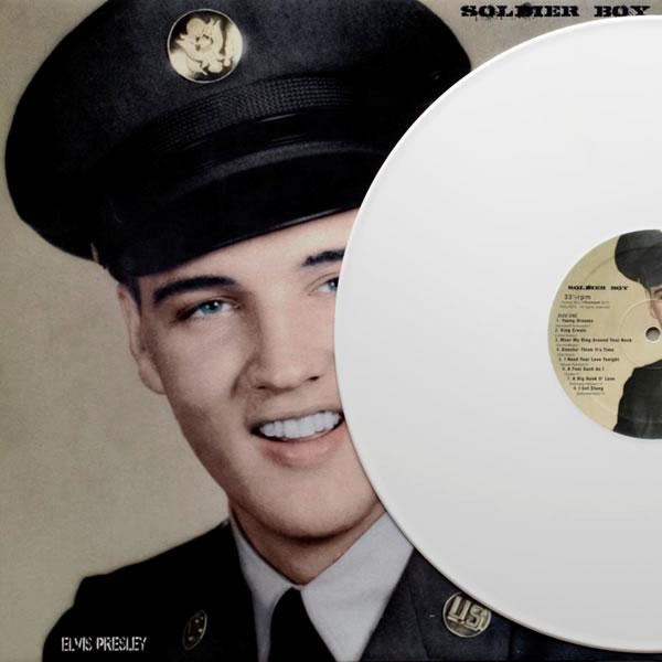 "'Elvis Soldier Boy - 1958 (part II), 1960 (part I)' 12"" vinyl record album."