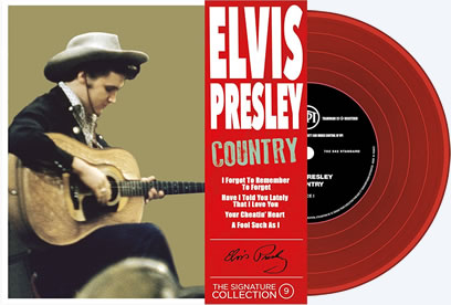 Vol. 9 'Country' : Elvis Presley 'The Signature Collection' Vinyl picture disc EP 45 RPM and compact disc.