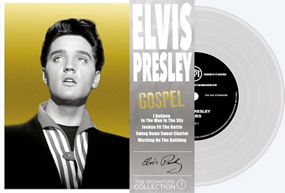 Vol. 7 'Gospel' : Elvis Presley 'The Signature Collection' Vinyl picture disc EP 45 RPM and compact disc.