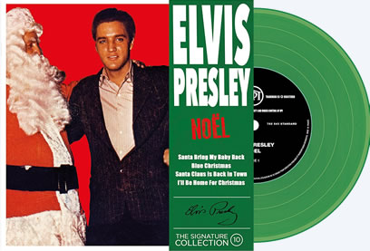 Vol. 10 'Noel' : Elvis Presley 'The Signature Collection' Vinyl picture disc EP 45 RPM and compact disc.