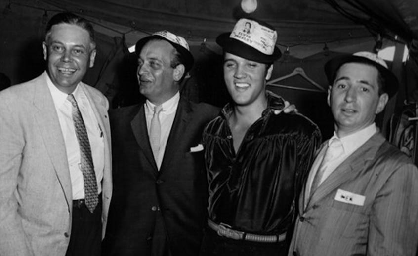 Elvis Presley backstage in Tupelo, Wednesday, September 26, 1956