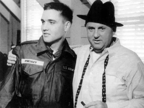 Colonel Tom Parker and Elvis Presley.