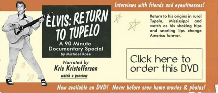 Elvis: Return to Tupelo DVD.